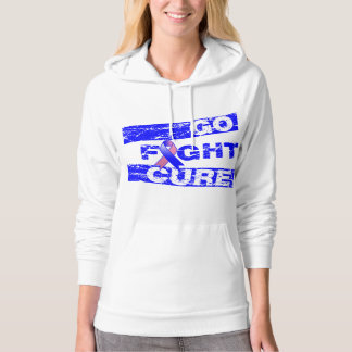 Male Breast Cancer Go Fight Cure Hooded Sweatshirt