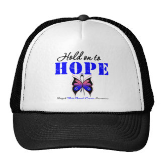 Male Breast Cancer HOLD ON TO HOPE Hat