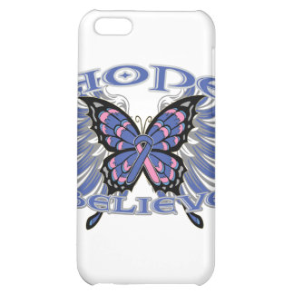Male Breast Cancer Hope Believe Butterfly iPhone 5C Cover