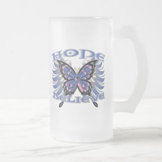 Male Breast Cancer Hope Believe Butterfly Coffee Mug
