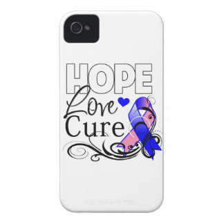 Male Breast Cancer Hope Love Cure Blackberry Bold Case