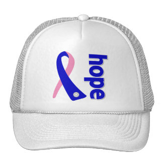 Male Breast Cancer Hope Ribbon Trucker Hat