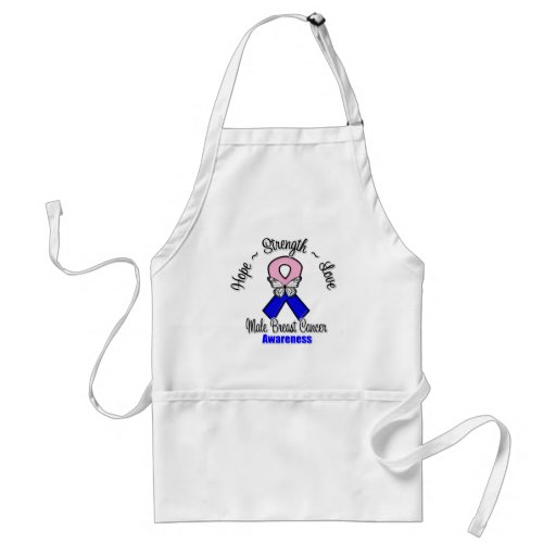 Male Breast Cancer  Hope Strength Love Aprons