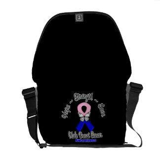 Male Breast Cancer  Hope Strength Love Messenger Bag