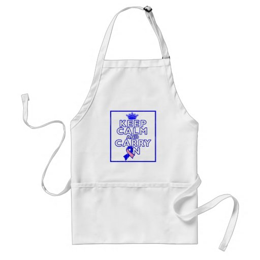 Male Breast Cancer Keep Calm and Carry ON Apron