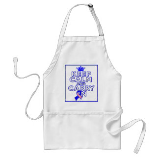 Male Breast Cancer Keep Calm and Carry ON Adult Apron