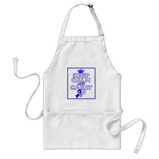 Male Breast Cancer Keep Calm and Carry ON Standard Apron