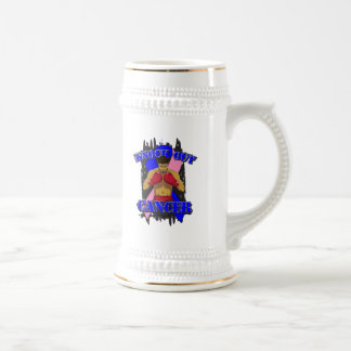 Male Breast Cancer Knock Out Cancer Beer Steins
