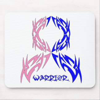 Male Breast Cancer Mens Warrior Tribal Mouse Pad