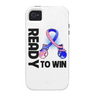 Male Breast Cancer Ready To Win iPhone 4/4S Case