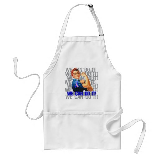 Male Breast Cancer Rosie WE CAN DO IT Apron
