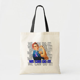 Male Breast Cancer Rosie WE CAN DO IT Tote Bag