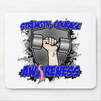 Male Breast Cancer Strength Courage Men Mouse Pad