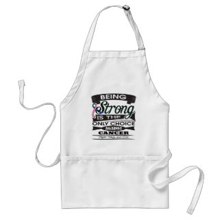 Male Breast Cancer Strong is The Only Choice Apron