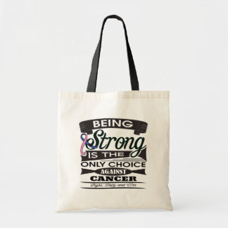 Male Breast Cancer Strong is The Only Choice Tote Bags