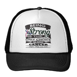 Male Breast Cancer Strong is The Only Choice Mesh Hats
