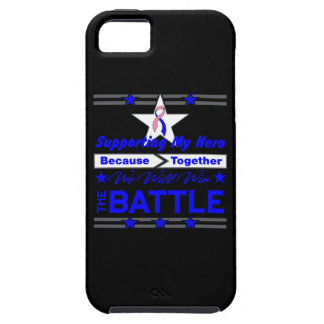 Male Breast Cancer Supporting My Hero iPhone 5 Cases
