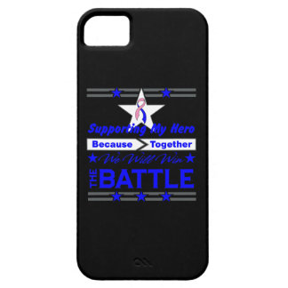 Male Breast Cancer Supporting My Hero iPhone 5 Covers