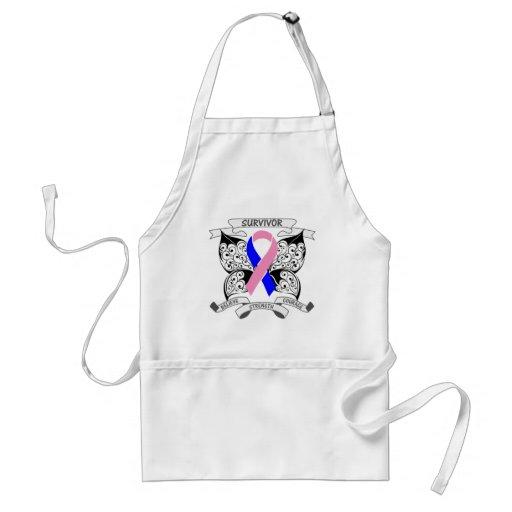 Male Breast Cancer Survivor Butterfly Strength Aprons