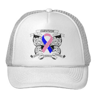 Male Breast Cancer Survivor Butterfly Strength Mesh Hat