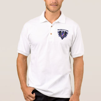 Male Breast Cancer Survivor Crest Polo T-shirts
