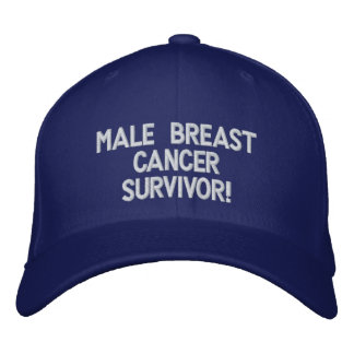 Male Breast Cancer Survivor! Embroidered Baseball Cap