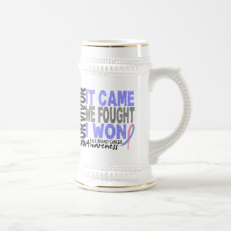 Male Breast Cancer Survivor It Came We Fought Coffee Mug