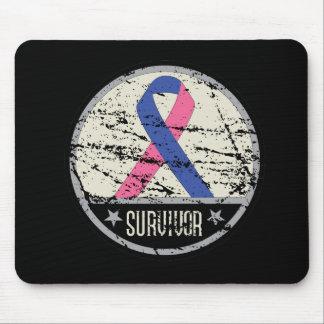 Male Breast Cancer Survivor Mens Vintage Mouse Pad