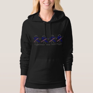 Male Breast Cancer Together We Will Fight Hooded Sweatshirts