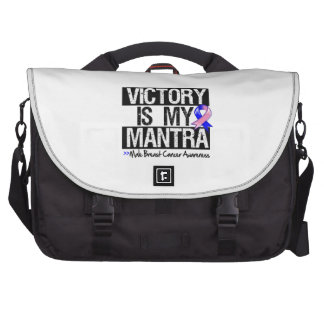 Male Breast Cancer Victory is My Mantra Laptop Messenger Bag