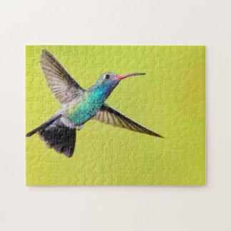 Male broad-billed hummingbird in flight jigsaw puzzle
