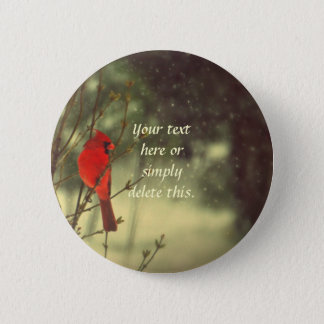 Male Cardinal 6 Cm Round Badge