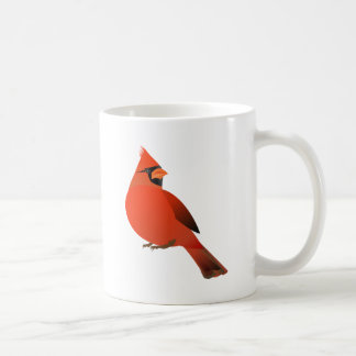 Male Cardinal Bird Mugs