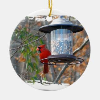 Male Cardinal Christmas Ornament