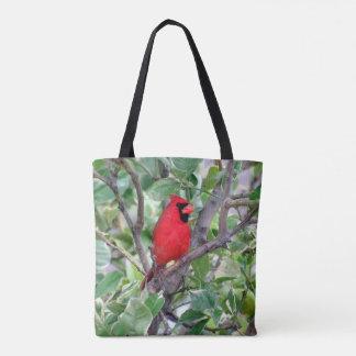 Male Cardinal - Tote Bag