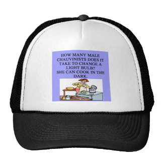 male chauvinist oig cooking joke hats