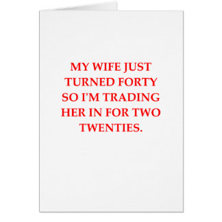 male chauvinist pig greeting card