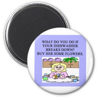 male chauvinist pig joke 6 cm round magnet