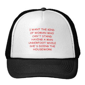 male chauvinist pig joke cap