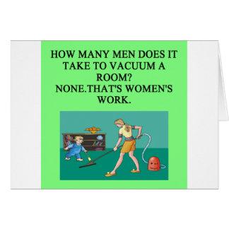 male chauvinist pig joke greeting card