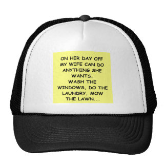 male chauvinist pig joke mesh hat