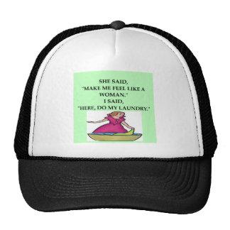 male chauvinist pig joke mesh hats