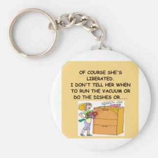 male chauvinist pig joke keychains