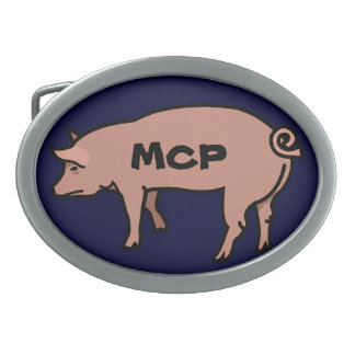 Male Chauvinist Pig Oval Belt Buckles