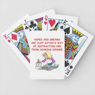 male chauvinist pig bicycle playing cards