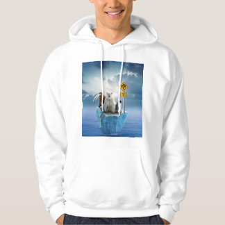 Male coat with design of animals in danger hoodie