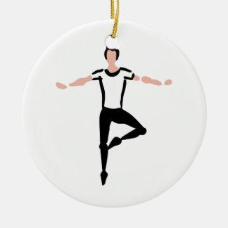 Male Dancer Round Ceramic Decoration
