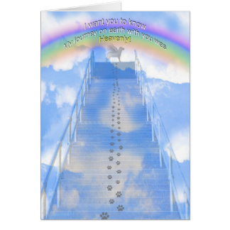 Male Dog Sympathy  Card - Stairway to Heaven