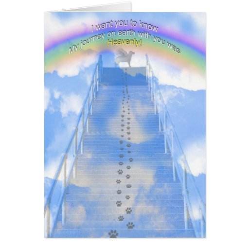 Male Dog Sympathy  Card - Stairway to Heaven Card