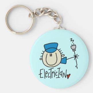 Male Electrician Keychain